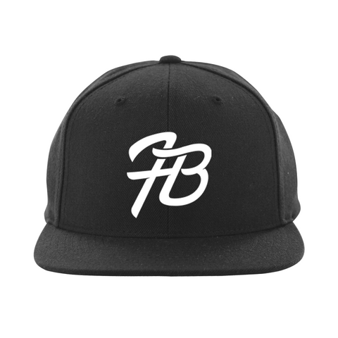 Holly Live : HB Logo Snapback Hat ( Black Hat White Logo)