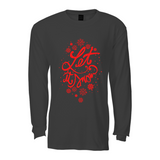Let is Snow Long sleeve T shirt : Black&Red