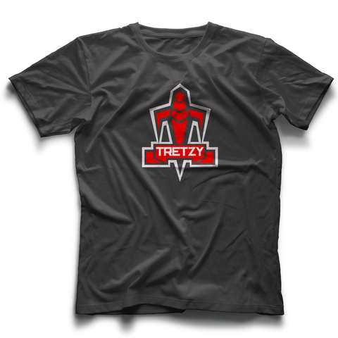 Tretzy Red Trooper Logo T shirt