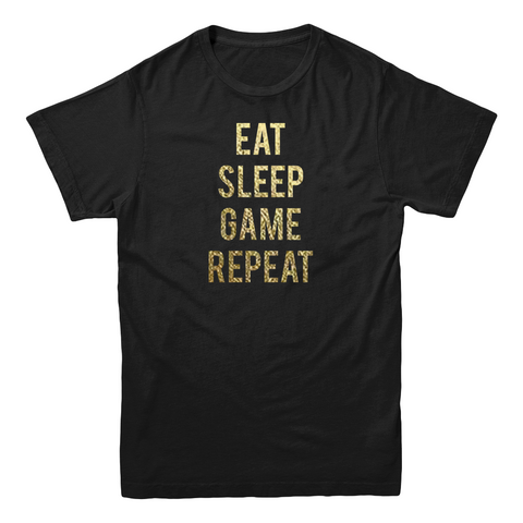 "MLG Blondie ""Eat Sleep Game Repeat"" Foil Gold T-Shirt"