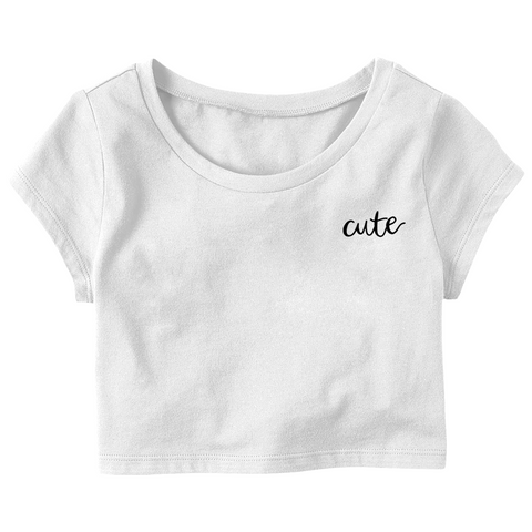 "Ella Elbells ""Cute"" Crop Top T-Shirt"
