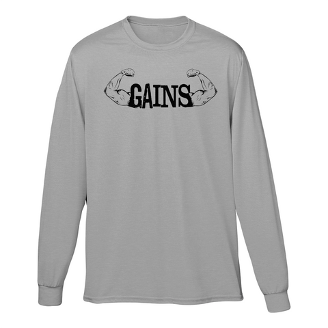 Gains Longsleeve T shirt ( 2 colors to pick from )