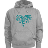 Heart Attack Warfare Hoodies : Lightblue/ Gray