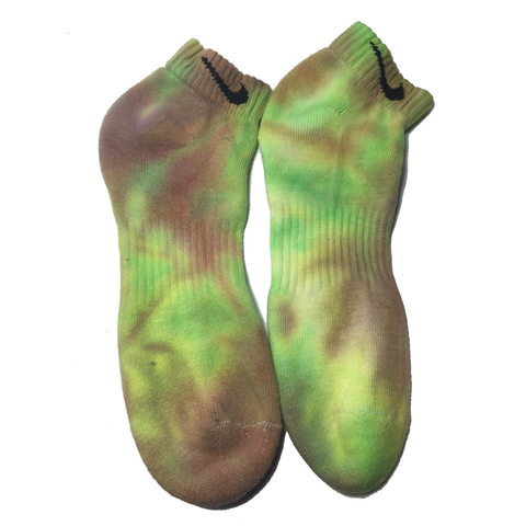 Tie Dye Martian Green socks