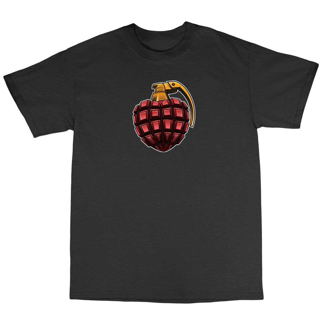 Heart Attack HeartNade T shirt ( White and Black )