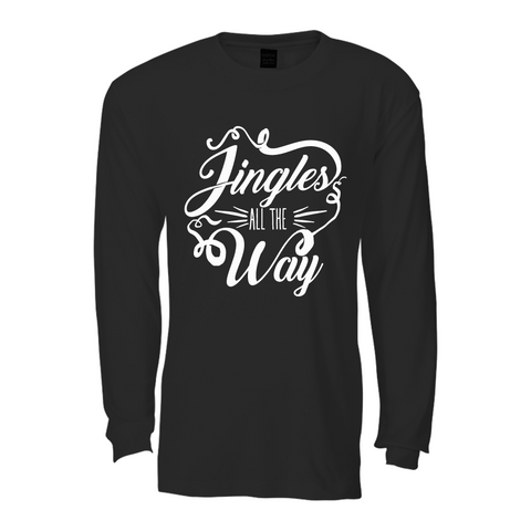 Jingle all the Way Long sleeve T shirt : Black&White