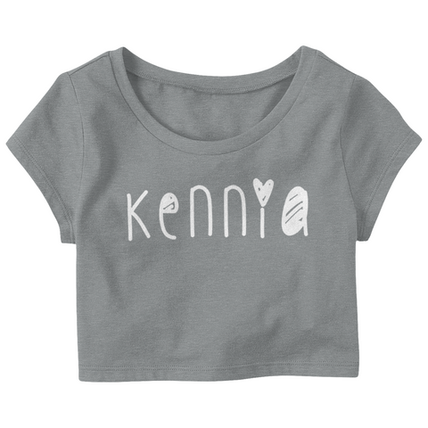 "Kenniasbeauty ""Kennia"" Crop Top T-Shirt"