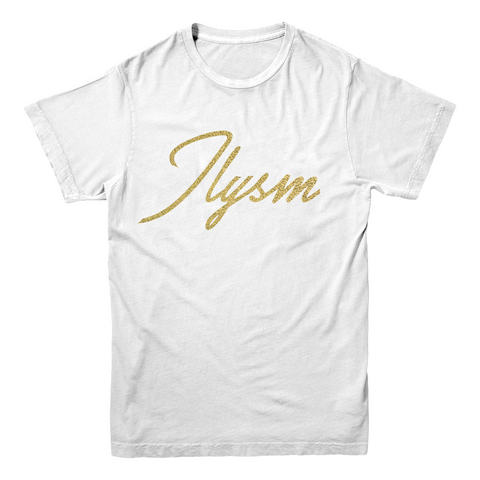"Loey Lane ""ILYSM"" T-Shirt (Metallic Gold)"