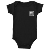 "Mighty Duck ""MD"" Baby Onesie (Multiple Colors)"