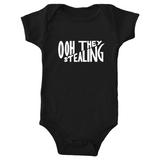 "Mighty Duck ""Ooh They Stealing"" Baby Onesie (Multiple Colors)"