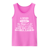 "Icemikeloveasia ""A Father Figure Quote Logo"" Kid Tank T-Shirt (Multiple Colors)"