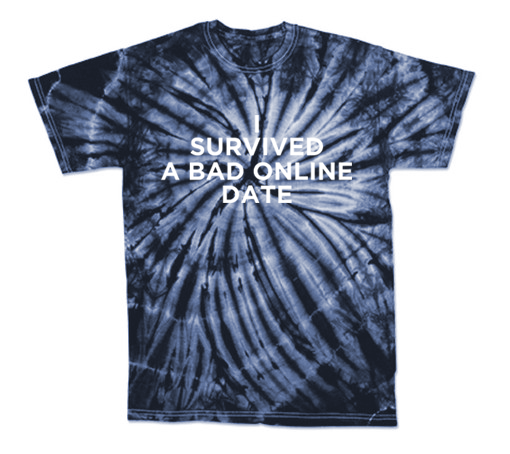"Olivia Cara ""I Survived A Bad Online Date"" Tie-Dye T-Shirt"