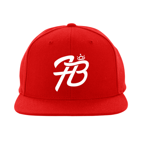Holly Live : HB Logo Snapback Hat ( Red Hat White Logo)