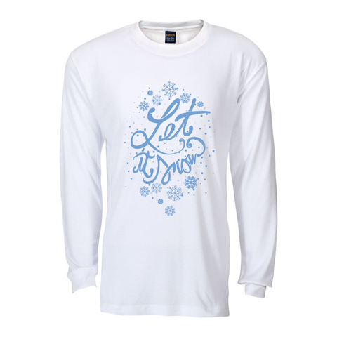 Let is Snow Long sleeve T shirt : White&Blue
