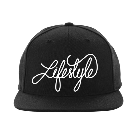 Life Style Script Snapback (Side Print Added) (Multiple Colors)