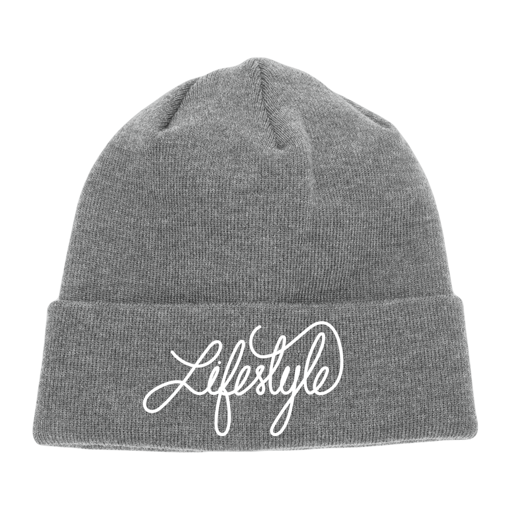 Life Style Script Beanies (Multiple Colors)