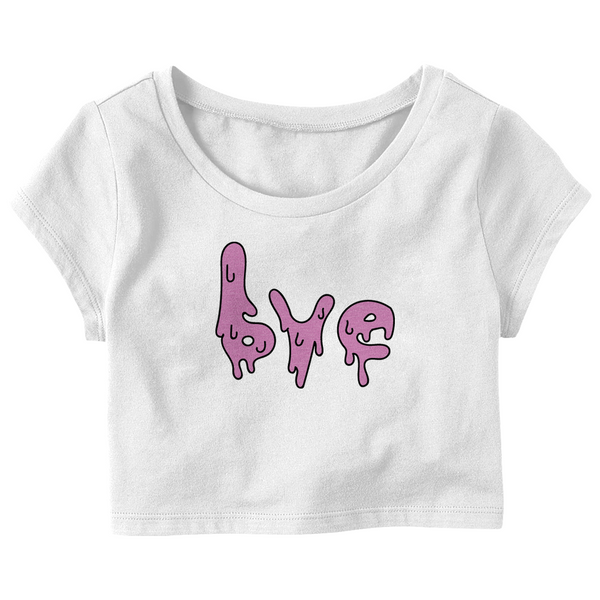 "Visionary Wear ""Bye"" Crop Top T-Shirt (Multiple Colors)"