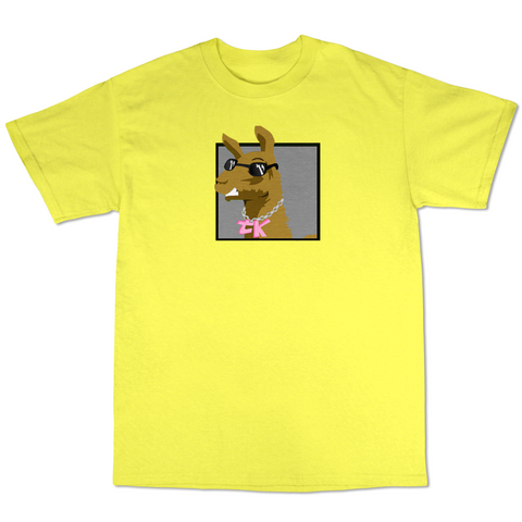 WayTooManyLlamas  ( Yellow T shirt Gray Logo )