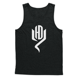 Youtubable Tank T shirt ( Black Tank White Logo )