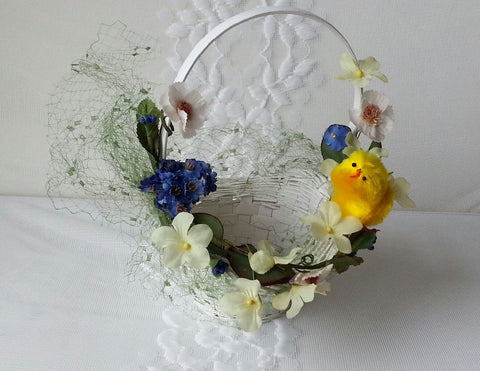 Easter Basket in White