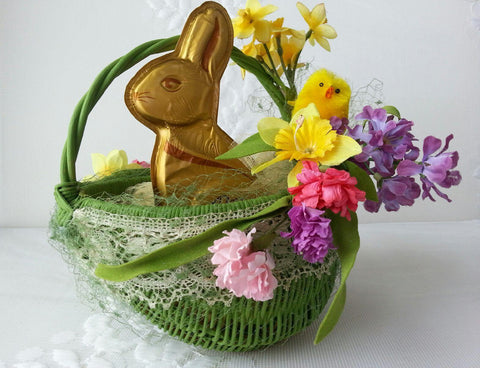 Easter Basket in Green