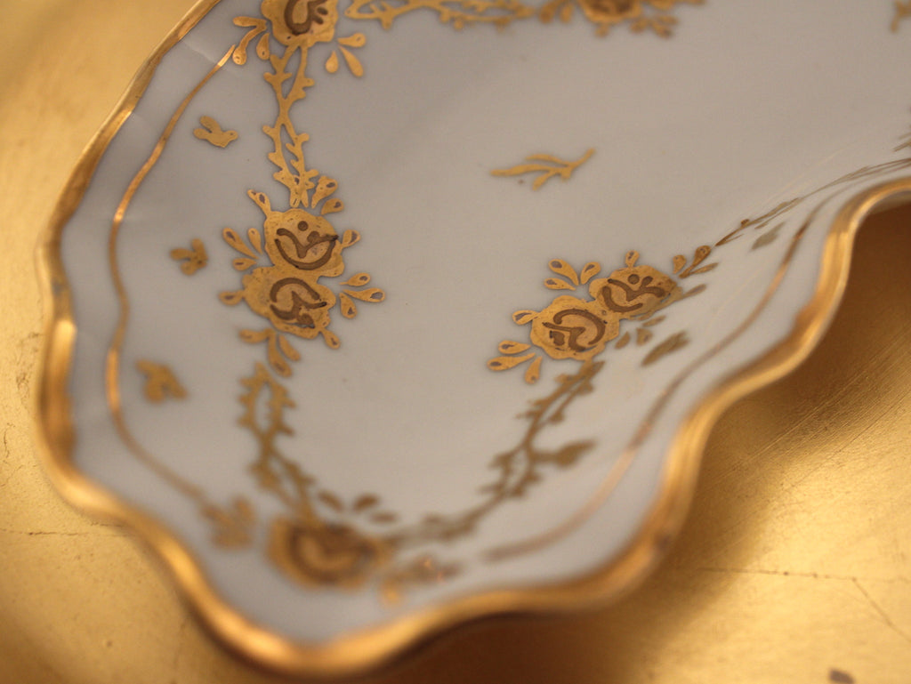 Gold Rose Vintage Bone Dish