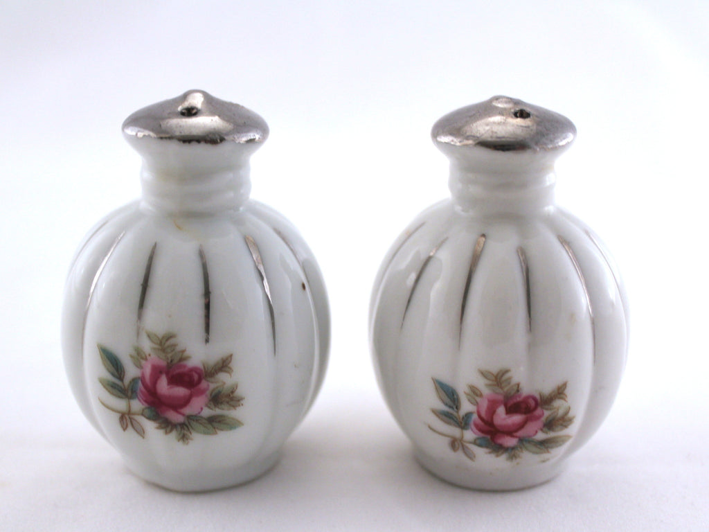 Vintage Rose Salt and Pepper Shakers