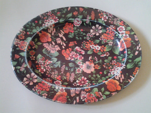 Nevco Vintage Flowered Tray