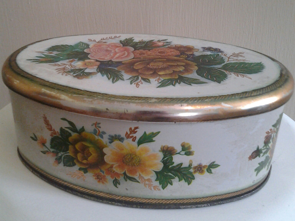 Meister Vintage Flowered Tin