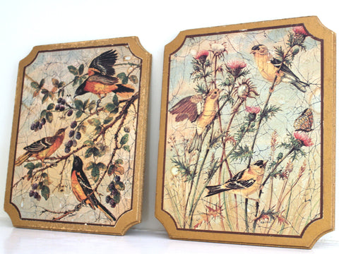 Vintage Bird Wall Hangings