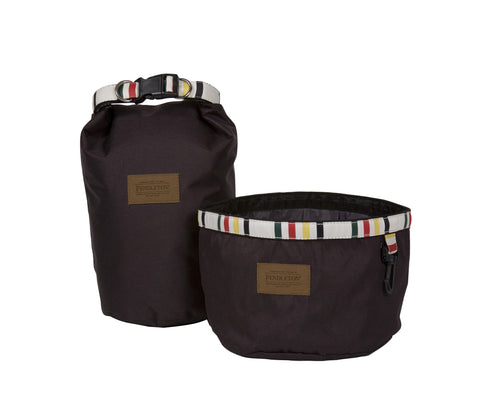 Pendleton Glacier National Park Travel Pet Food Bag and Water Bowl