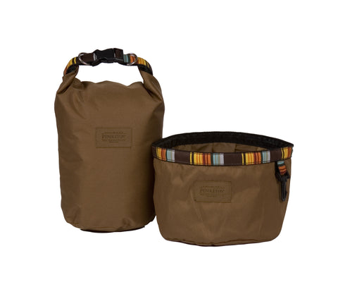 Pendleton Great Smoky Mountain National Park Travel Pet Food Bag and Water Bowl