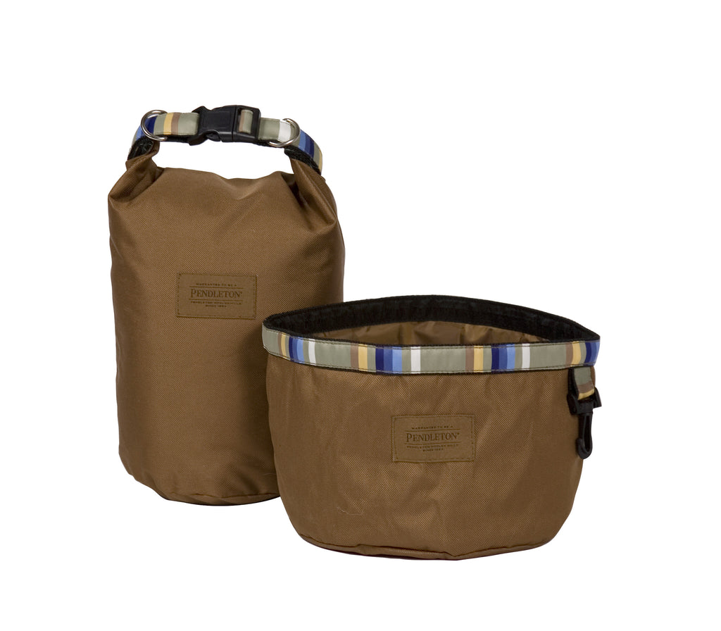 Pendleton Rocky Mountain National Park Travel Pet Food Bag and Water Bowl