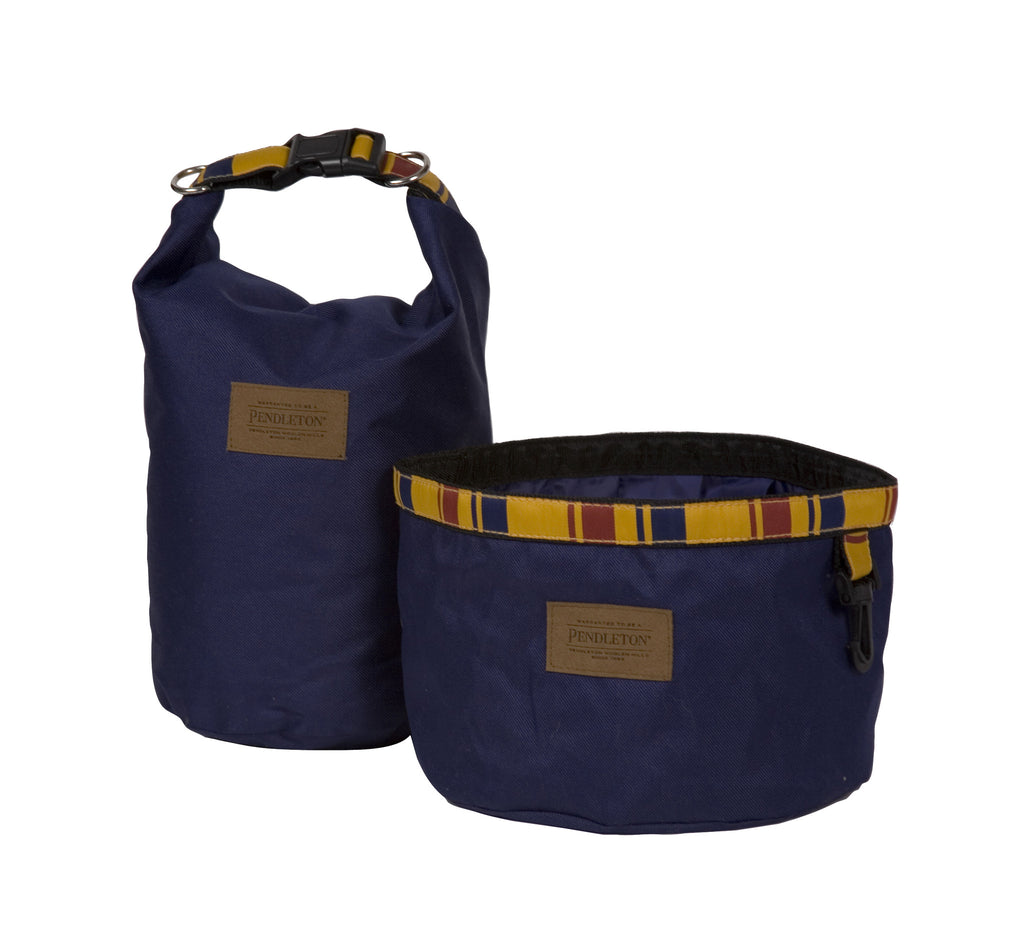 Pendleton Yellowstone National Park Travel Pet Food Bag and Water Bowl