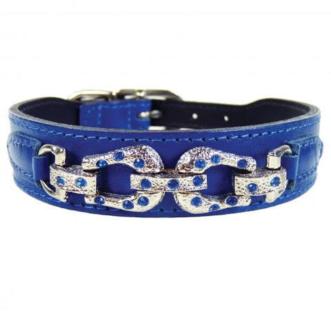 After Eight Dog Collar - Cobalt Blue