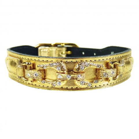 After Eight Dog Collar - Gold Metallic