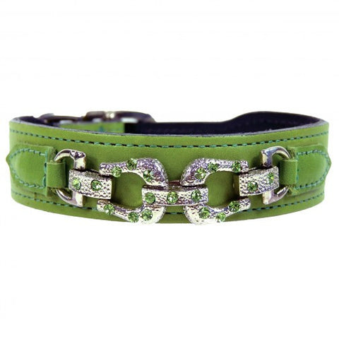 After Eight Dog Collar - Lime Green