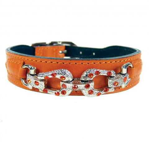 After Eight Dog Collar - Tangerine