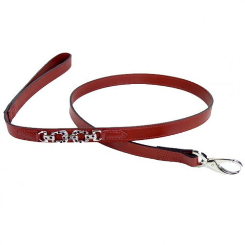 After Eight Dog Leash - Ferrari Red