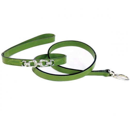 After Eight Dog Leash - Lime Green