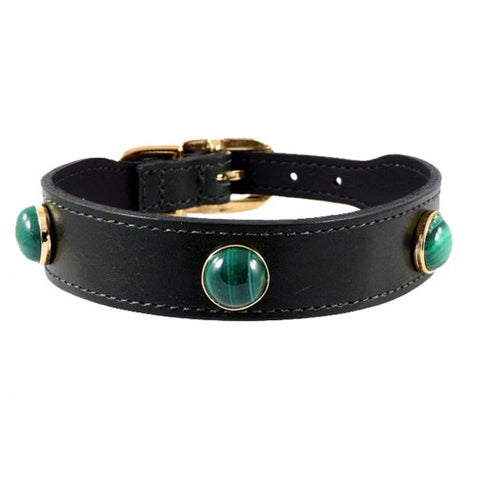 Au Naturale Dog Collar - Hunter Green