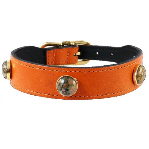 Au Naturale Dog Collar - Tangerine