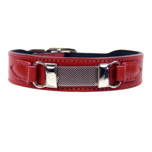 Barclay Dog Collar - Ferrari Red