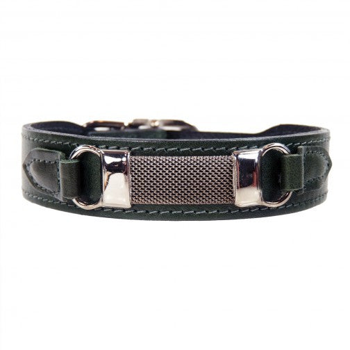 Barclay Dog Collar - Ivy Green
