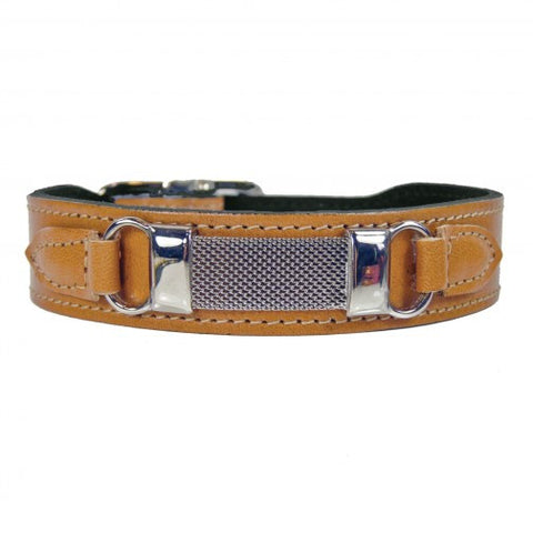 Barclay Dog Collar - Natural Tan