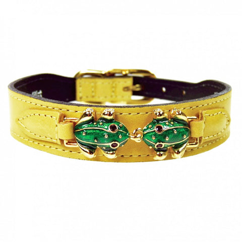 Leap Frog Dog Collar - Canary Yellow