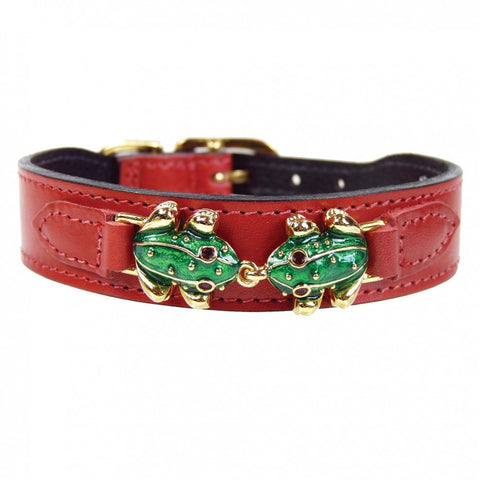 Leap Frog Dog Collar - Ferrari Red