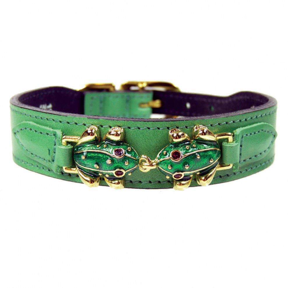Leap Frog Dog Collar - Cut Grass Green