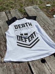 Death Before Defeat- Women's muscle tank
