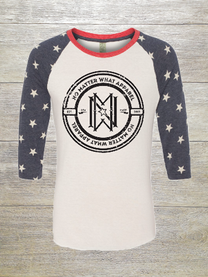 No Matter What Patriot 3/4 Sleeve #America
